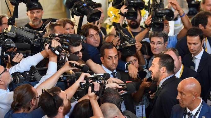 Matteo Salvini al Forum Ambrosetti di Cernobbio (Ansa)