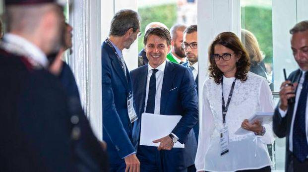 Conte al forum di Cernobbio (Imagoeconomica)