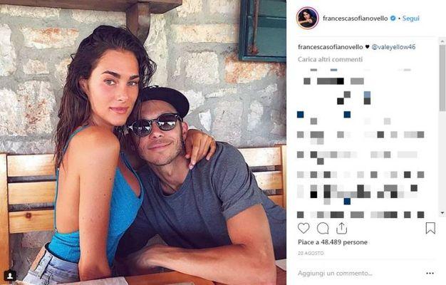 Francesca Sofia Novello con Vale Rossi su Instagram
