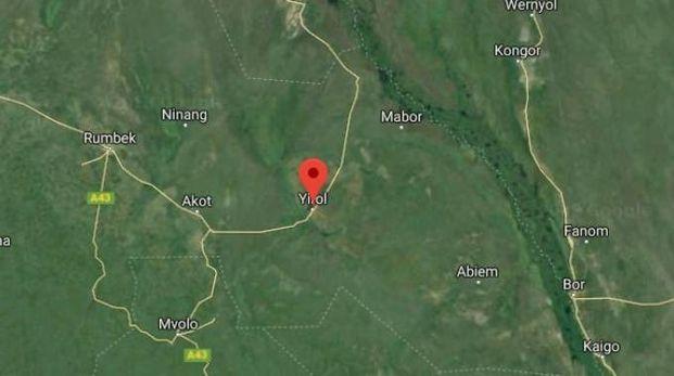 Aereo caduto in Sud Sudan, il luogo dello schianto (Google Maps)