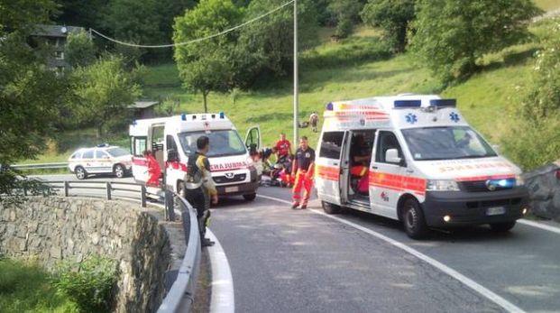 Mattinata di incidenti che hanno coinvolto i motociclisti sulle strade del lago