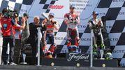 Il podio della MotoGp (Foto Petrangeli)