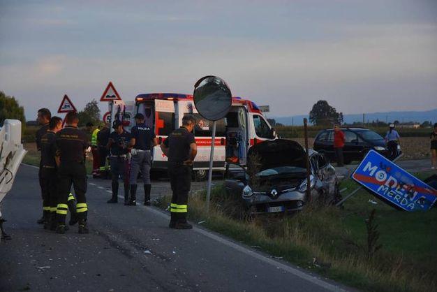 L'incidente è avvenuto al confine con Modena (Foto Artioli)