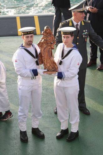 La statuetta di legno simbolo della Stella Maris (Foto Antic)