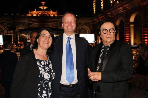 Paola Borberi, Eike Smidth e Renato Zero  (Marco Mori/New Press Photo)