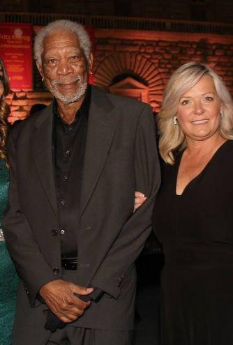 Celebrity night a Palazzo Pitti. Morgan Freeman con la compagna  (Umberto Visintini/New Press Photo)