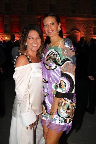Celebrity Fight Night a Palazzo Pitti: Elisa Piccini e Veronica Bocelli (foto Marco Mori/New Press Photo)