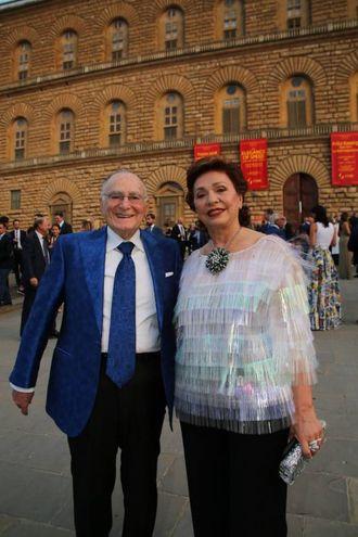 Celebrity Fight Night a Palazzo Pitti: Maria Manetti e Ian Shrem /Marco Mori/New Press Photo)