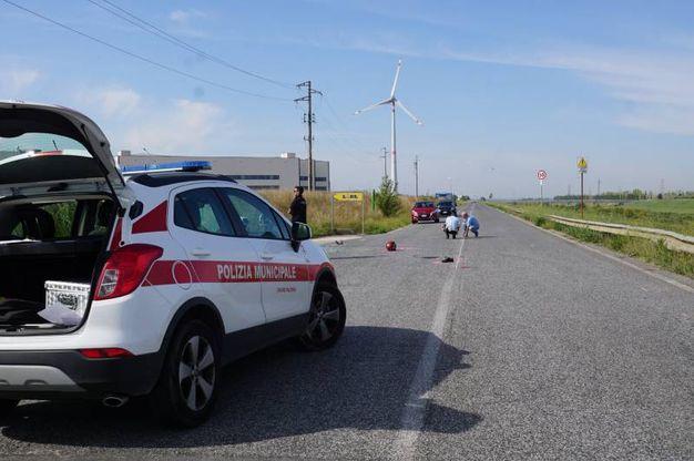 Pontedera, incidente mortale in viale America (foto Sarah Esposito/Germogli)