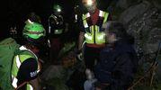 L'intervento dei i tecnici del Soccorso Alpino e Speleologico in un canale a quota 1700 metri