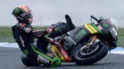 La caduta all'Australian Motorcycle Grand Prix 2017 a Phillip Island, Victoria (foto Ansa)