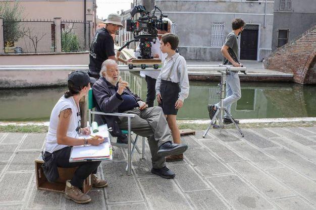 Le riprese hanno coinvolto la zona di Comacchio e le sue valli per una decina di giorni (foto Samaritani)