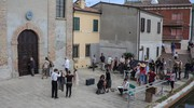 Le riprese si sono concluse alla Chiesa del Carmine (foto Samaritani)