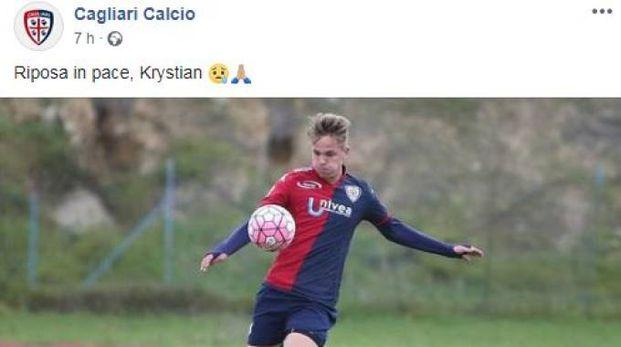 Krystian Popiela (Facebook Cagliari)