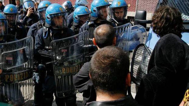 Sgombero della polizia (foto repertorio)
