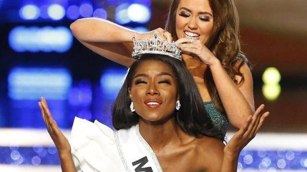 Nia Imani Franklin, Miss America 2018 (Ansa)