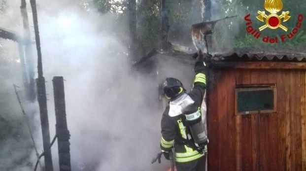 Incendio a Colombiera