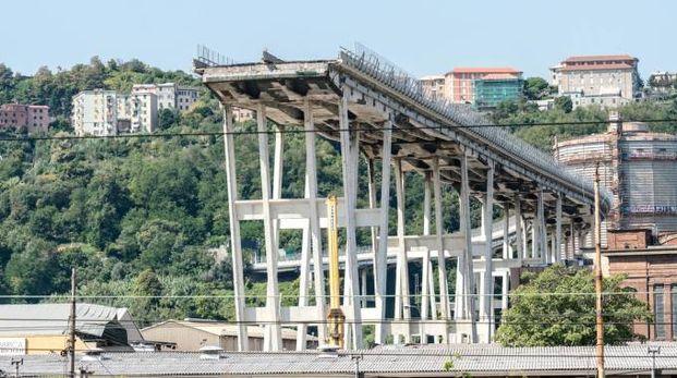 Genova, il ponte Morandi (Lapresse)