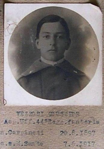 Vezzosi Giuseppe (07/06/1897 - 20/08/1917) Iscritto alla facoltà di Chimica e Farmacia, a.a. 1916-17 I anno