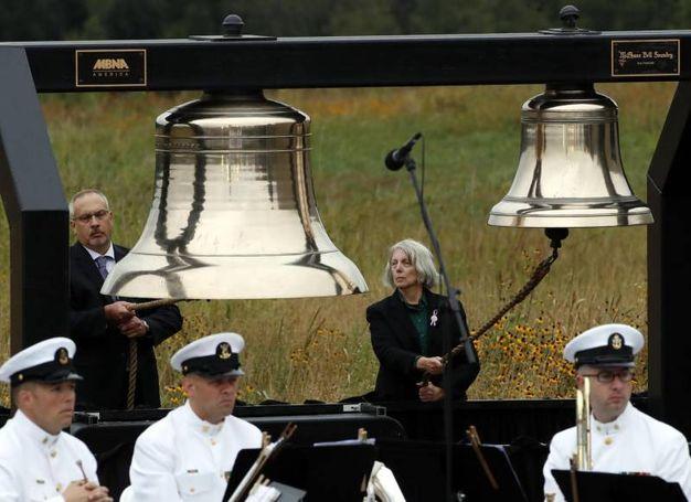 Le campane del memoriale a Shanksville in Pennsylvania (Ansa)