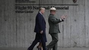 Donald Trump e Melania Trump a Shanksville in Pennsylvania per la commemorazione dell'11 settembre (Ansa)
