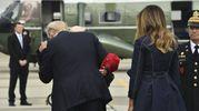 Donald Trump e Melania Trump a Shanksville in Pennsylvania per la commemorazione dell'11 settembre (LaPresse)