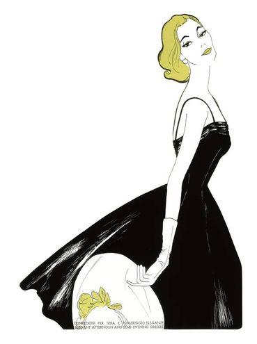 Bozzetto di un abito da sera Luisa Spagnoli