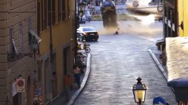 Six Underground, la scena dell'incidente in piazza S. M. Novella (Fonte: The Florentine)