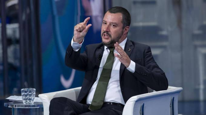 Matteo Salvini a 'Porta a porta' (Ansa)