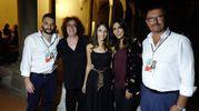 Da sinistra Mirco Ruffilli, Atina Cenci, Ginevra Nuti, Sabrina Ferilli, Maurizio Sguanci (New Press Photo)
