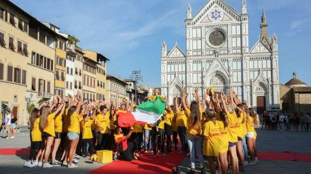 Un momento del flashmob (New Press Photo)
