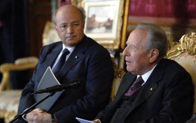 William Santorelli con Carlo Azelio Ciampi