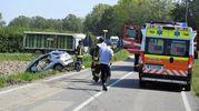 Lo scontro è avvenuto a circa 100 metri dall'intersezione con via Abbadesse (Scardovi)