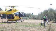 L'intervento di soccorso (Tommaso Gasperini / Fotocronache Germogli)