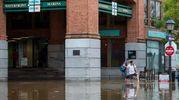 Inondazioni nella Old Town Alexandria, in Virginia (LaPresse)