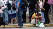 L'evacuazione della popolazione nel North Carolina (Ansa)