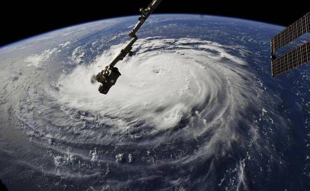 L'uragano Florence nelle immagini satellitari della Nasa (Ansa)