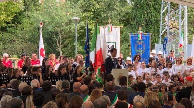 Il premier Conte a San Severino