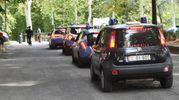 Montagnola blindata per i controlli delle forze dell'ordine (FotoSchicchi)