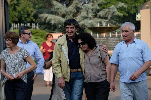 Commozione ai funerali di Igor Maj (foto Newpress)