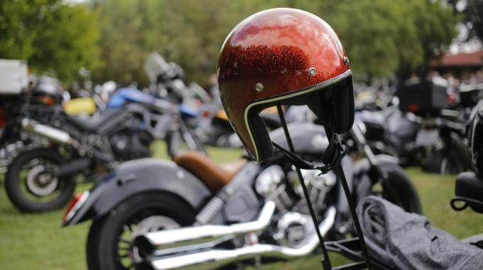 Alcune Harley Davidson a un raduno (Ansa)