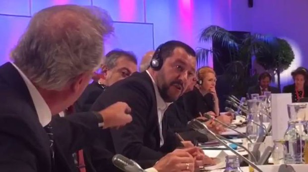 Scontro tra Salvini e il ministro Asselborn a Vienna (Facebook)