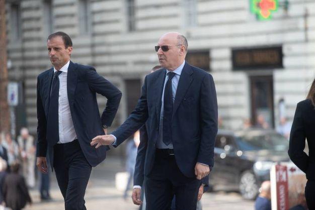 Massimiliano Allegri e Giuseppe Marotta (LaPresse)
