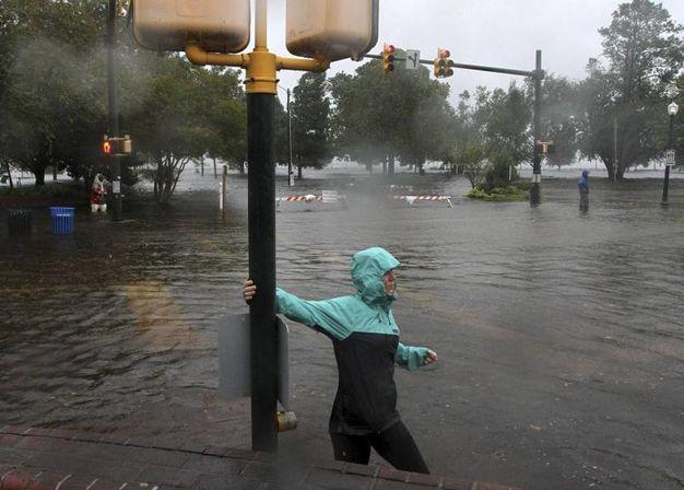 Uragano Florence (Ansa)