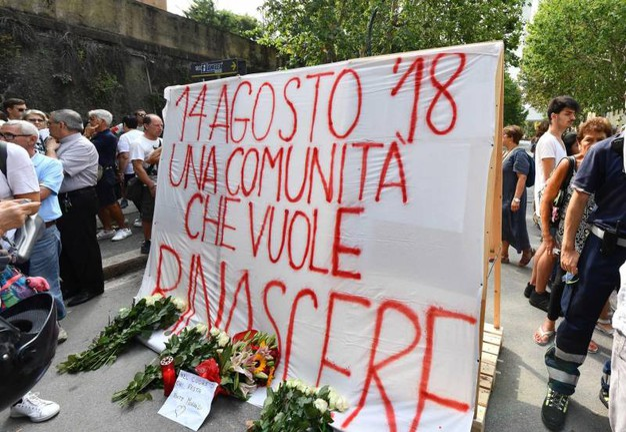 Commemorazione al quartiere Certosa (Ansa)