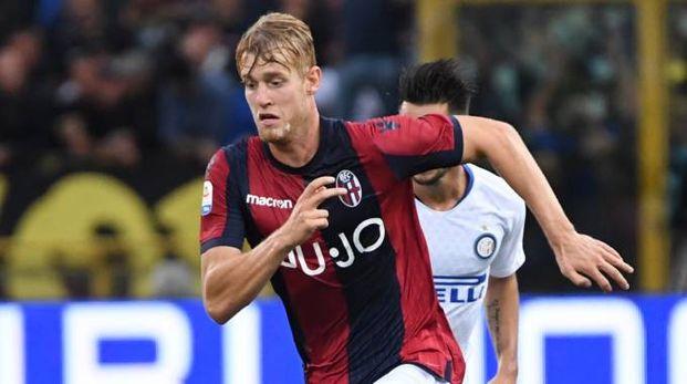Helander durante Bologna-Inter