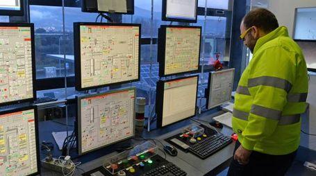 La centrale operativa con i monitor pronti a controllare i parametri ambientali di Silla 2
