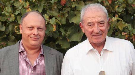 """Il direttore de Il Giorno Sandro Neri  e il patron di """"Terra Moretti"""" Vittorio Moretti"""