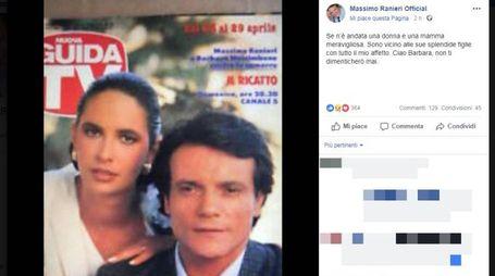 Il post di Massimo Ranieri su Barbara Nascimbene (facebook)