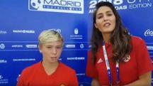 Cristian Totti intervistato a Madrid (da youtube)